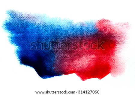 Abstract watercolor brushed background on white paper pad. - stock photo
