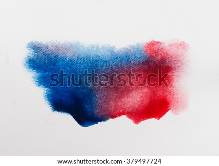 Abstract watercolor brushed background on white paper pad with clipping path. - stock photo