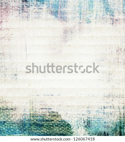 Abstract watercolor collage paper texture - stock photo