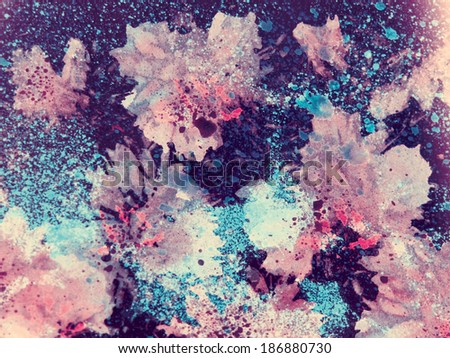 abstract watercolor flower background. hand made drawing. impressionism style. suitable for various designs and scrapbooking
