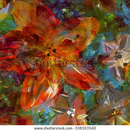 Abstract watercolor hand made painting. Floral background  - stock photo