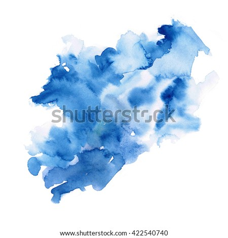 Abstract watercolor hand paint texture, isolated on white background, watercolor textured backdrop, watercolor drop
