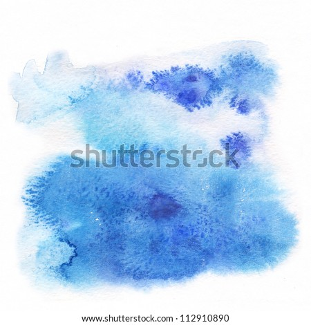 """Abstract watercolor hand painted background. Album   """"Abstract watercolor hand painted background"""". """"Winter backgrounds"""". - stock photo"""