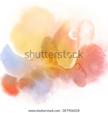 Abstract watercolor hand painted background. Pastel Colored Texture Gradient.  - stock photo