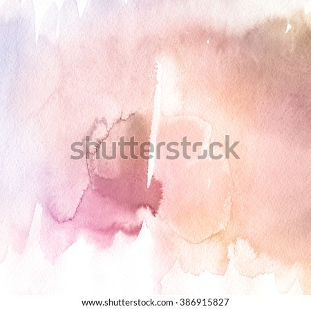 Abstract watercolor hand painted background. . Rose Quartz Tint Watercolour Texture. Pastel Colored Palette.