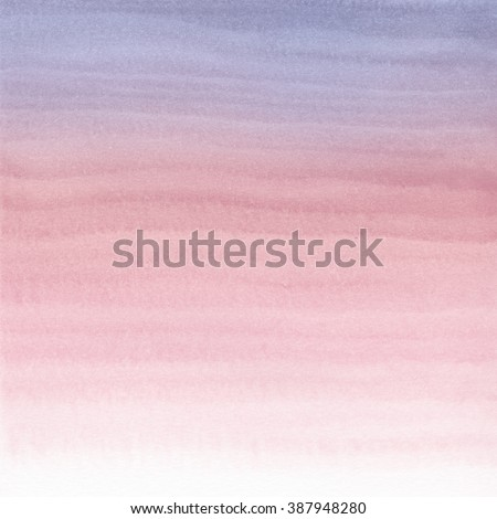Abstract Watercolor Hand Painted Background. Serenity and Rose Quartz Tint Watercolour Texture Gradient. Pastel Colored Palette. - stock photo