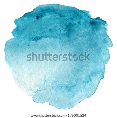 Abstract  watercolor hand painted background. Textured paper. - stock photo