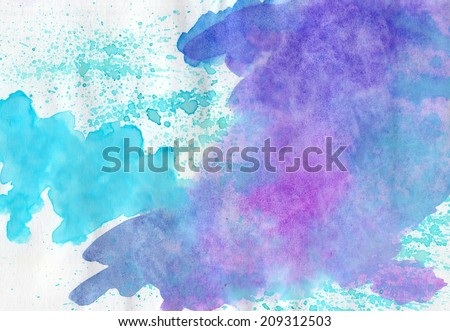 Abstract watercolor   multicolored  background  for scrapbooking and other  design. Can be used for design cards,  books, covers, templates