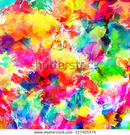 Abstract watercolor, oil painting background. - stock photo