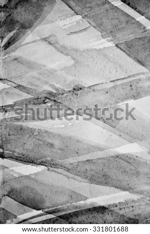 Abstract watercolor on paper texture can use as background. In black and white toned.  - stock photo