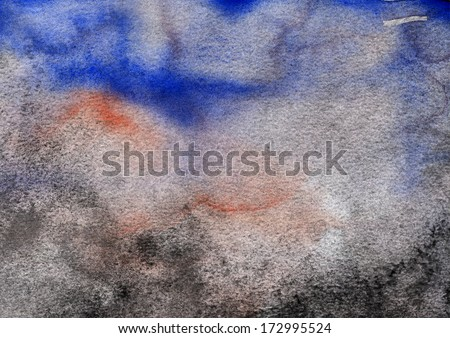 Abstract watercolor painted blob close up  - stock photo