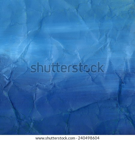 Abstract watercolor painting. Great deep blue background  - stock photo