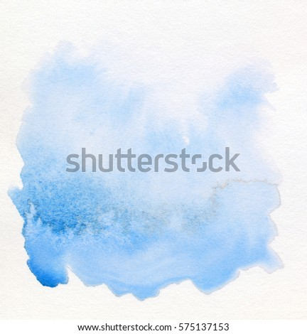 Abstract watercolor painting scanned in high resolution. Design element