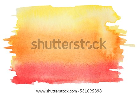 Abstract watercolor painting scanned in high resolution. Design element. Isolated