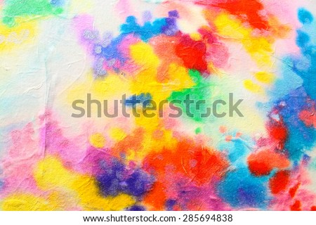 Abstract watercolor painting with pearl effect. Rainbow colors. Backgrounds & textures shop.