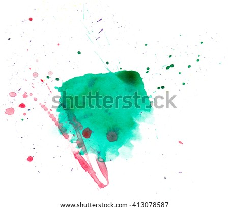Abstract  watercolor palette of few colors, mix color, background, a mixture of colors, stains with a spray of water colors, the author's work.