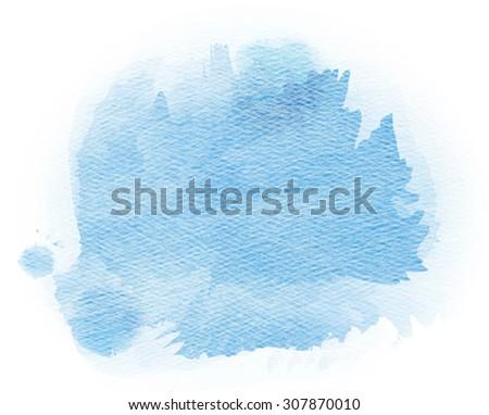 Abstract watercolor splash. Watercolor drop. - stock photo