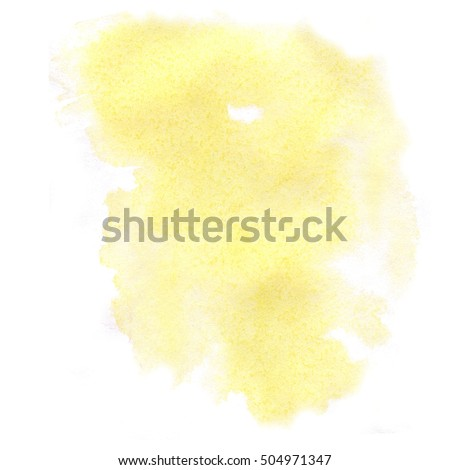 abstract watercolor splash yellow. watercolor drop isolated blot for your design
