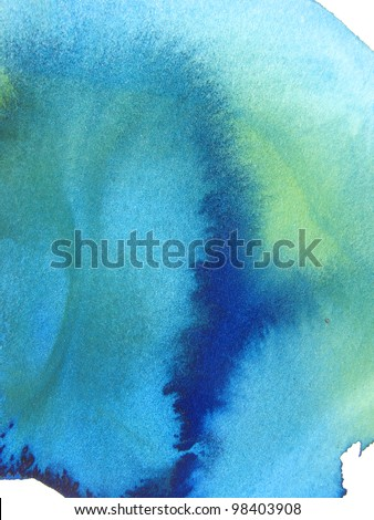 abstract watercolor wash background - stock photo