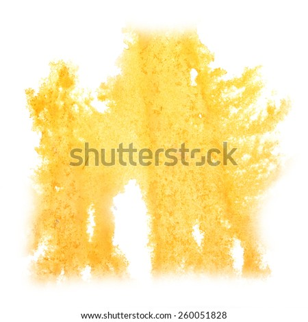 Abstract watercolor yellow background for your   design  insult