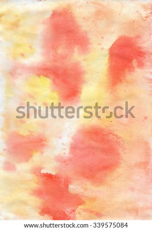 Abstract watercolour  cute yellow and red colored grunge    background with for design  - stock photo
