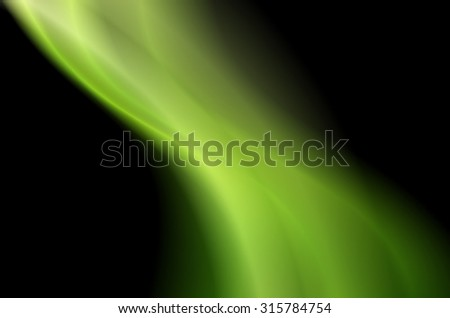 abstract wave background green color glowing in the dark
