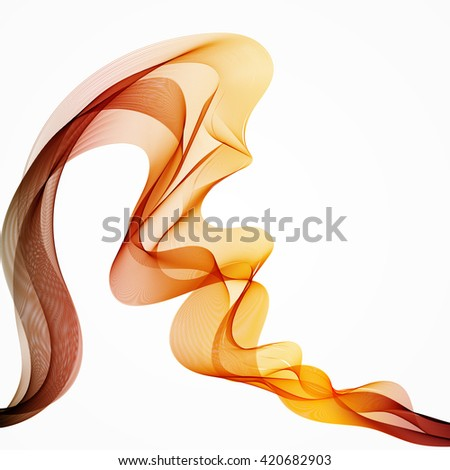 Abstract wave colorful background 3D illustration