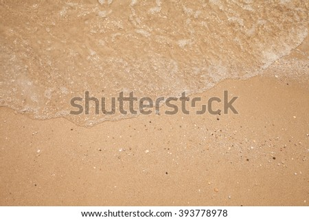 abstract wave sea beach on top view - stock photo