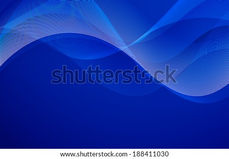 Abstract wavy blue background design