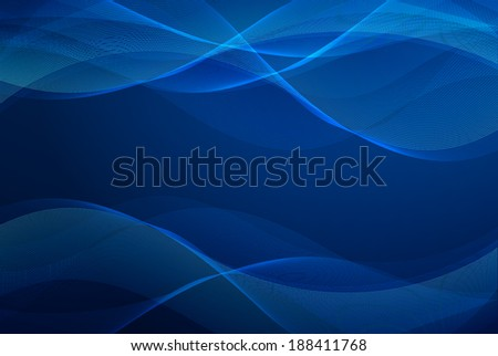 Abstract wavy blue background design - stock photo