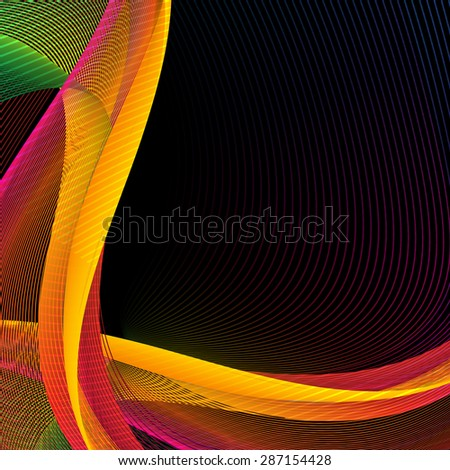 Abstract wavy lines background illustration - stock photo