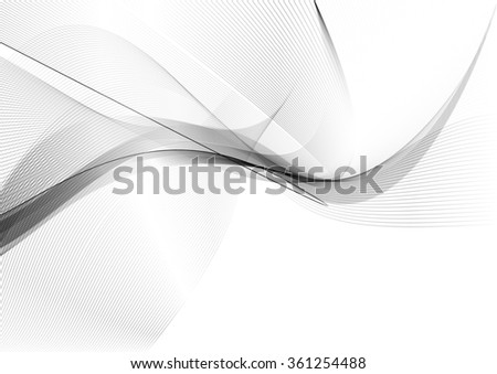 Abstract wavy lines background soft and smooth smoke background image - stock photo