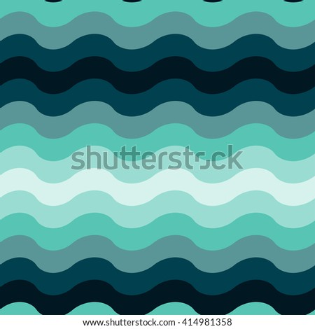 Abstract wavy ocean seamless pattern background.