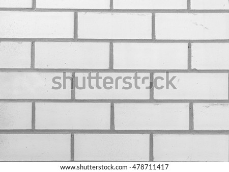 Abstract weathered texture stained old stucco light gray and aged paint white brick wall background in rural room, grunge rusty blocks of stonework technology color horizontal architecture wallpaper