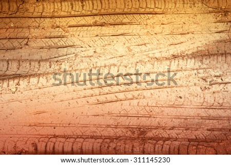 abstract wheel trail background, sweet dreamy, soft focus - stock photo