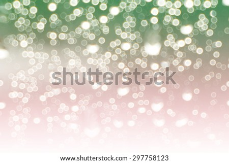 abstract white and green pastel colors background of bokeh lights or bubbles in soft  colors