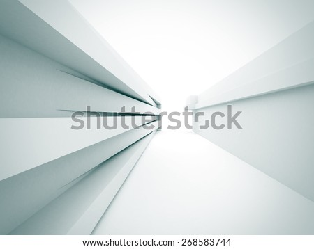 Abstract White Architecture Construction Background. 3d Render Illustration - stock photo