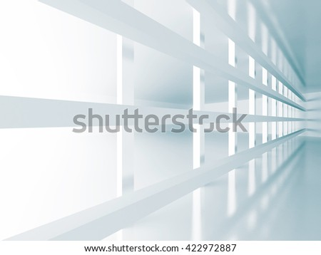 Abstract White Architecture Futuristic Background. 3d Render Illustration