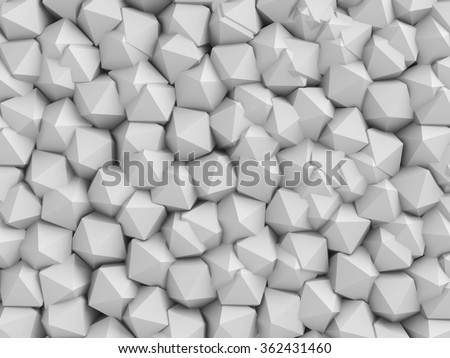 Abstract White Architecture Wall Background. 3d Render Illustration - stock photo