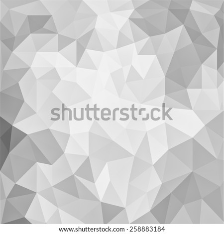abstract white background, low poly textured triangle shapes in random pattern, trendy lowpoly background - stock photo
