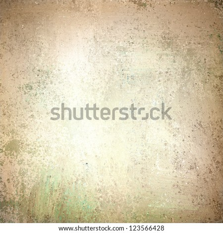 abstract white background tan color, elegant warm background of vintage grunge background texture white center, pastel brown border or frame for web design banner or brochure poster, old stained paper - stock photo