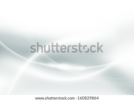 abstract white background with smooth lines - stock photo