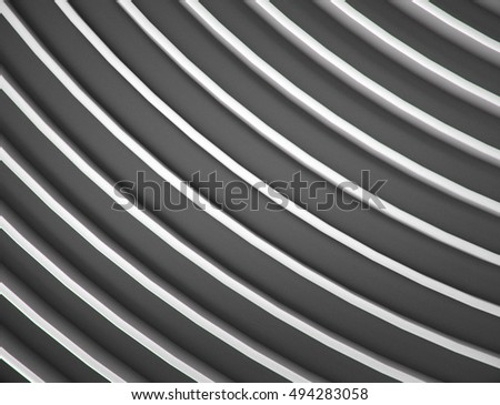 abstract white background with smooth lines. 3d rendering geometric polygons.