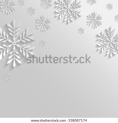 Abstract White Background with Snowflakes