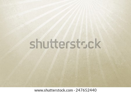 abstract white background with white starburst or sunburst design in thin lines, radial striped design - stock photo
