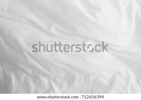 white bed sheets background. Abstract White Bedding Sheets Or Blanket Background And Texture With Copy-space Bed G