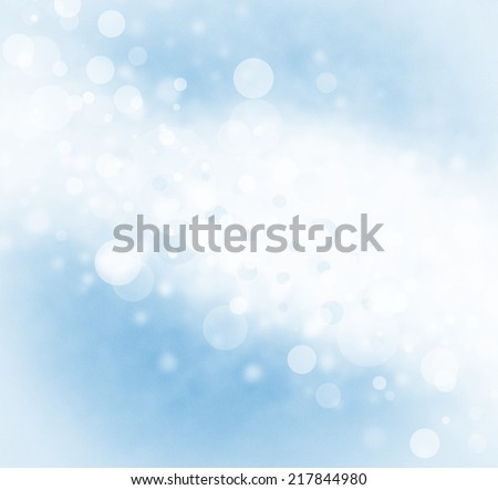 abstract white blue bubble background, bright stripe of white bokeh lights background design on faded sky blue color border, sparkles and shimmery circle shape background  - stock photo