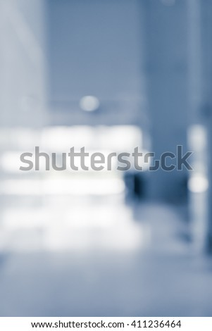 Abstract white blur background from building hallway corridor - Color tone effect - stock photo