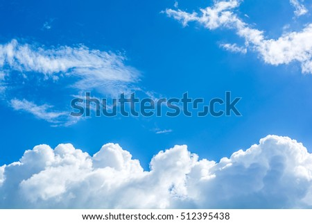 abstract white cloud on the blue sky