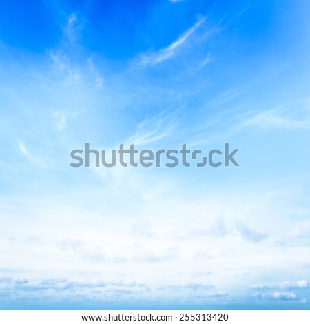 Abstract white cloudy and blue sky in sunny day. Fantastic Clear View Light Image Photo Air High Idyllic Relax Pattern Hope Scene Heaven Energy Sun Wind Ocean Sea City Terrace Urban Haze concept. - stock photo